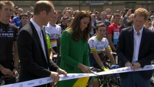 Royals greet cyclists at Harewood