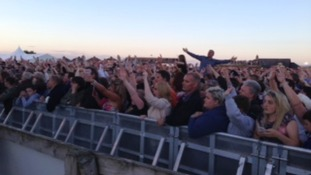 Fans at Carlisle Racecourse