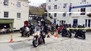 The 100-mile ride took the bikers across Derbyshire