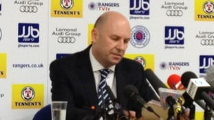 Rangers Administrator Paul Clark addresses the media