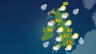 Another day of sunshine and showers is expected for the UK today.