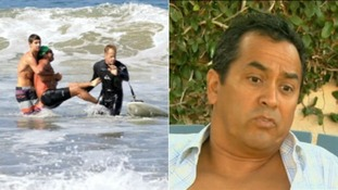 Steve Robles said he 'looked into the eyeballs' of a shark that attacked him.