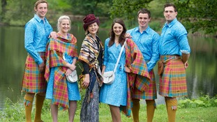 The parade outfits will feature tartan for both men and women.