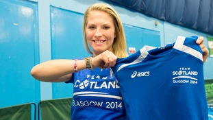 Athlete Samantha Kinghorn during the team's kitting out session yesterday.