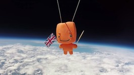Space Centre send mascot 21 miles above the earth