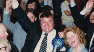 The late MP Geoffrey Dickens handed a file containing allegations of child sex abuse at Westminster to then-home secretary Leon Brittan.