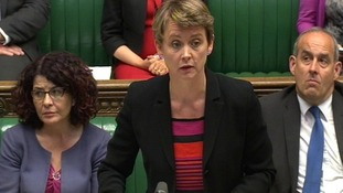 Shadow Home Secretary Yvette Cooper speaks in the House of Commons today.