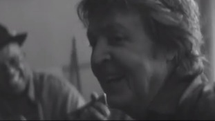 Sir Paul McCartney jams with musicians including Johnny Depp in the video.