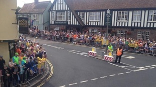 Crowds also lined the streets in Felsted.