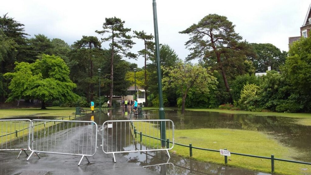 Barriers Block Entry To Bournemouth Gardens Meridian