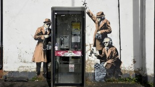 Banksy mural 'Spy Booth'