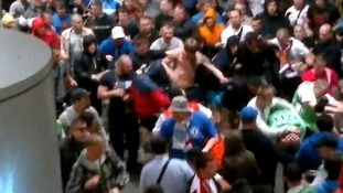 FFans kicked and punched stadium stewards on Friday night.