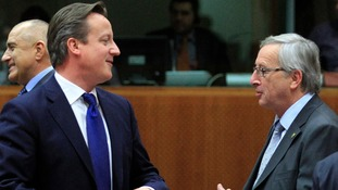David Cameron and Jean-Claude Juncker.
