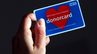 File photo of an organ donor card.
