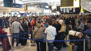 File photo of an airport queue.