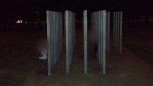 Two men urinate on memorial to the 7/7 bombing victims