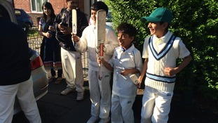 Members of the ICCA under 10 boys team are leaving for Trent Bridge.