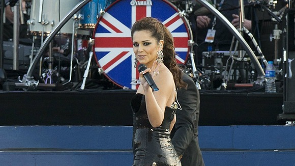 Cheryl Cole performing on stage
