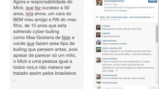 "The message to Gimenez's 200,000 Instagram followers called for a stop to ""cyber-bullying""."