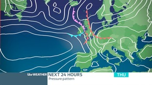 PRESSURE CHART THURSDAY: The cloud and rain lingering in the east