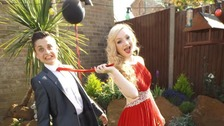 Enya Oakley and Marcus Chrisostomou at Southwood Hall, Caister High School Prom