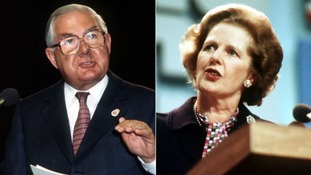 Labour's former prime minister James Callaghan and the former Conservative leader Margaret Thatcher.