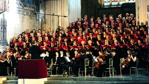 The Parliamentary Choir Concert to commemorate WW1 at Westminster Hall, London.