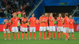 Netherlands' players the moment they were knocked out of the World Cup on penalties.