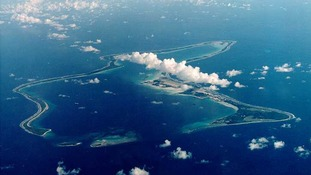 File photograph of Diego Garcia.