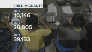 The number of child migrants has risen from 10,146 in 2012 to 39,133 in 2014.