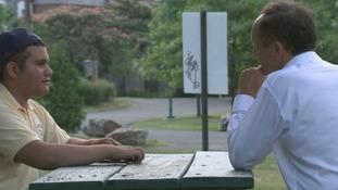 Brandon, who is 14, speaks to ITV News Washington Correspondent Robert Moore.
