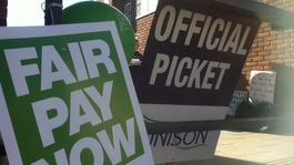 Public sector workers go on strike over pay and pensions