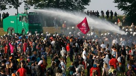Water cannon have arrived at 'undisclosed location'