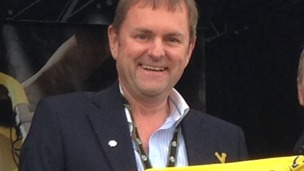 Gary Verity on the start line of the Grand Départ