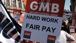 GMB are protesting outside The Council House in Birmingham