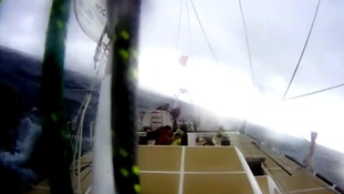 Video captures moment tornado flips Great Britain yacht