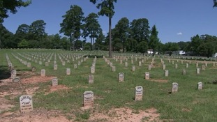 The expanding death row cemetery where most executed prisoners are laid to rest.