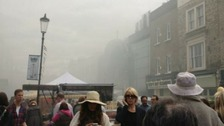 Smoke filled Portobello Road