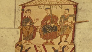 The Bayeaux Tapestry depicts the Battle of Hastings in 1066