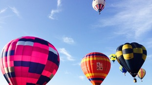 Up, up and away at the Tiverton balloon fiesta