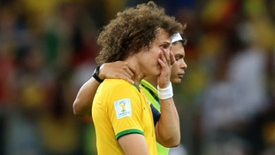 David Luiz and Thiago Silva after Tuesday's humiliating defeat.