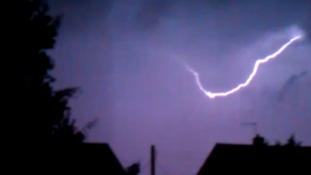 Another shot of the lightning over Hadleigh, Suffolk.