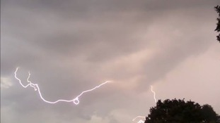 More lightning strikes over Wickford in Essex