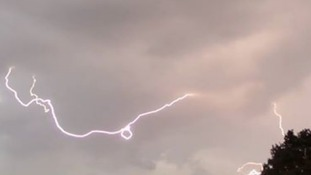 Saturday's lightning at Wickford in Essex.