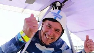 Geordie daredevil Ron Freeman flew to victory in this year's Worthing International Birdman competition.