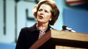Former Prime Minister Margaret Thatcher in the 1980s.