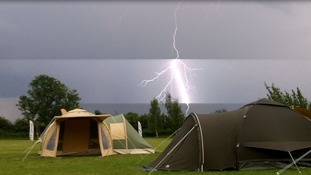 A spectacular lightning strike on the Herts/Cambs border at Melbourn.