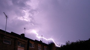 The storm passing through Bury St Edmunds, Suffolk