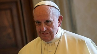 "Pope Francis said he found paedophilia in the Catholic church ""intolerable""."