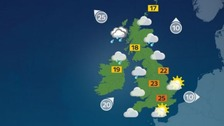 Weather: Outbreaks of rain in north but sunny elsewhere